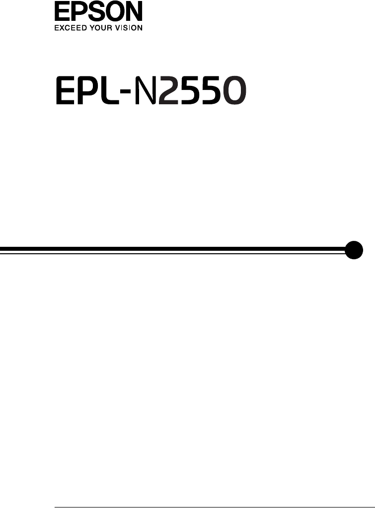 Manual Epson EPL-N2550 (page 1 of 339) (English)