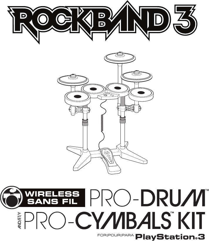 Manual Mad Catz Rock Band 3 Wireless PRO-Drum and PRO