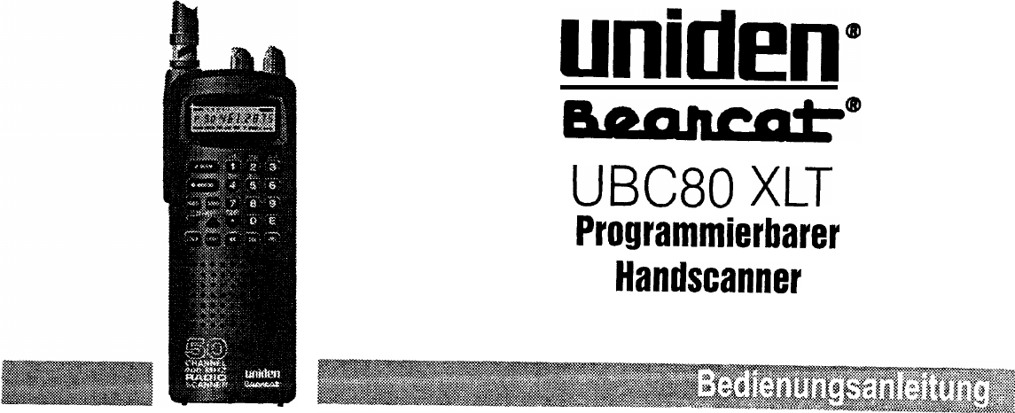 Manual Uniden UBC 80 XLT (page 1 of 31) (German)