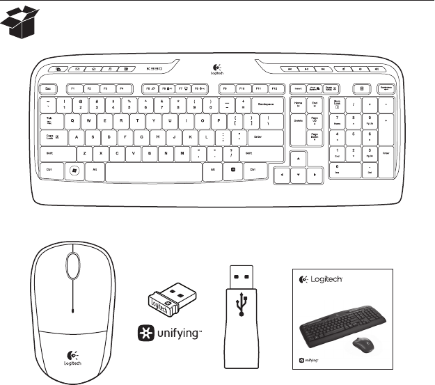Manual Logitech K330 (page 2 of 148) (All languages)