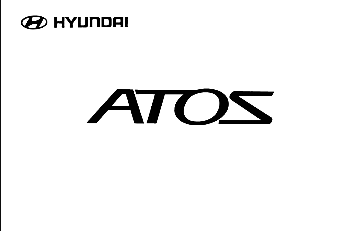 Manual Hyundai Atos 2002 (page 1 of 249) (English)