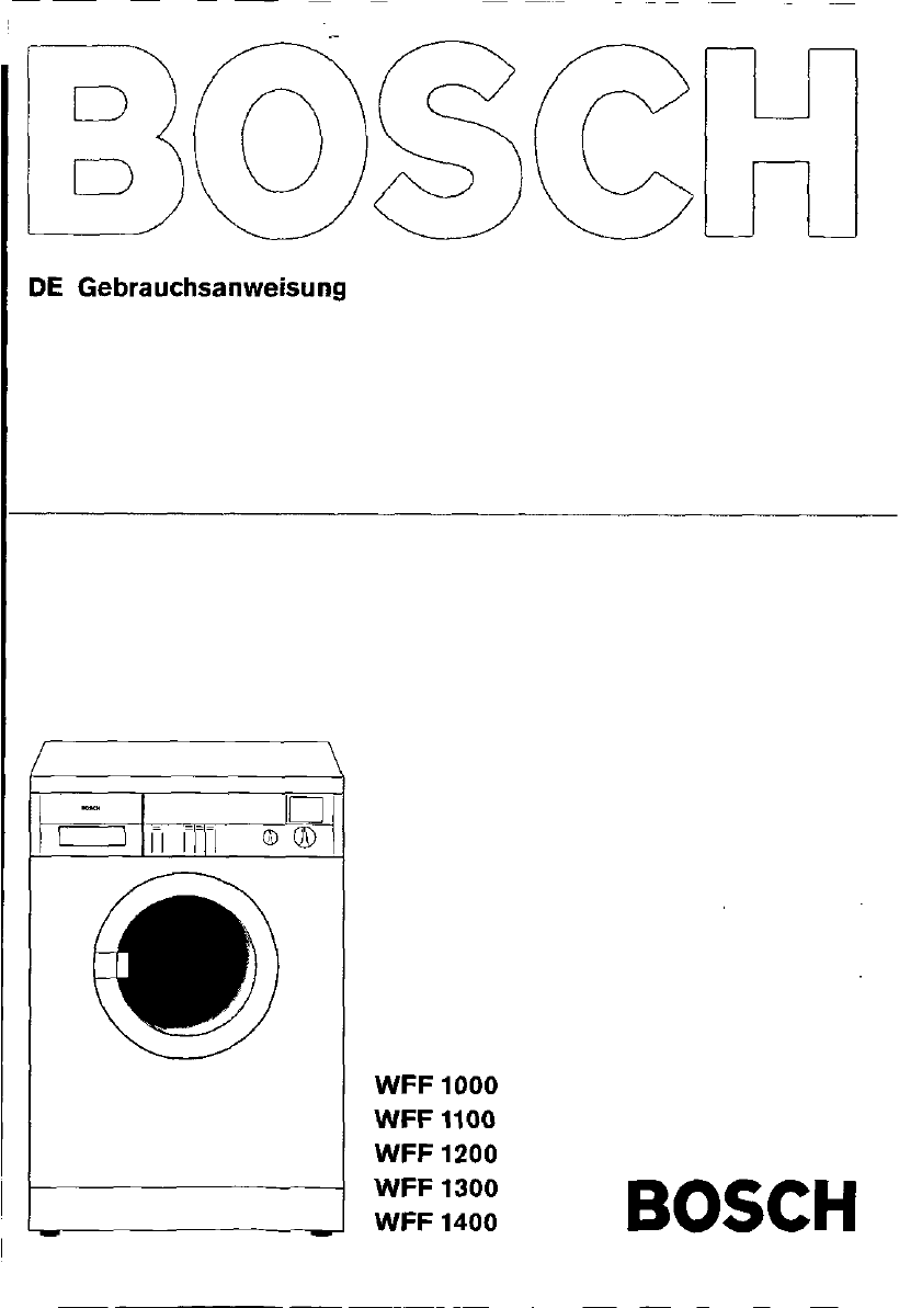 Manual Bosch wff 1201 (page 1 of 26) (German)