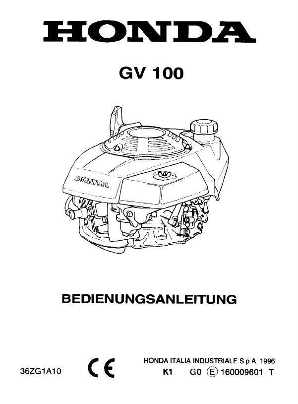 Manual Honda GV 100 (page 1 of 32) (German)