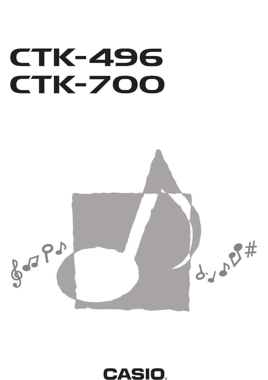 Manual Casio CTK-700 (page 1 of 45) (English)