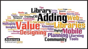 Internet Librarian 2010 Sessions Wordle