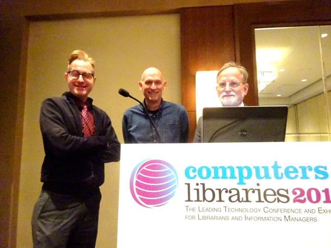 (L-R) Jeff Wisnewski, David Lee King, Marshall Breeding