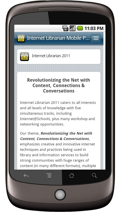 Internet Librarian Mobile
