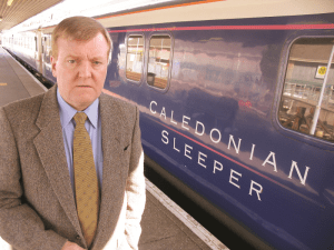 Charles Kennedy with the Caledonian Sleeper