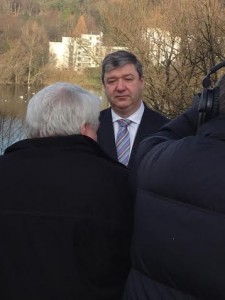 Alistair Carmichael being interviewed by Brian Taylor