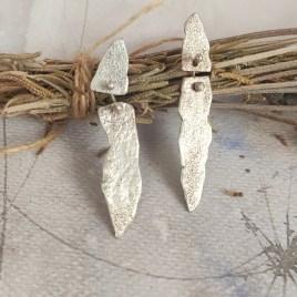 Pendientes plata textura Vestigios