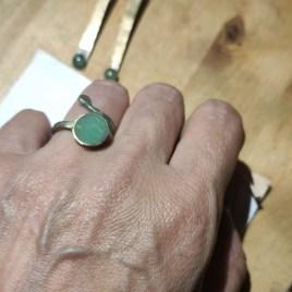 Conjunto pendientes y anillo Livia