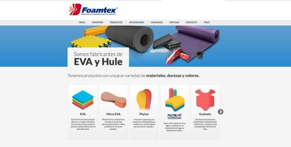 Sitio web FOAMTEX