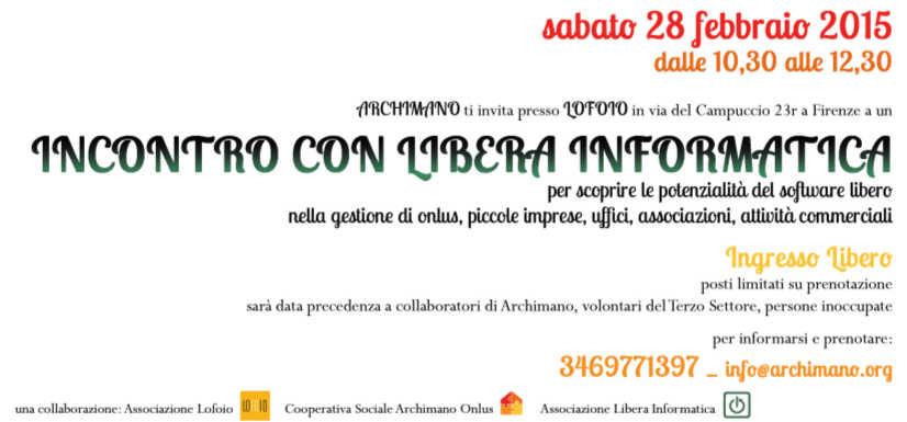 invito libera info archimano