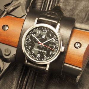 雑誌の付録の時計が余ってたからベルトを作った。