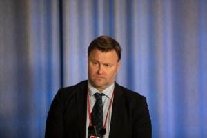 Espen Nakstadfra Helsedirektoratet på Regjeringens pressekonferanse om smitteverntiltak i mars 2020. Foto: Jan Rickard Kjelstrup CC.BY.NC.