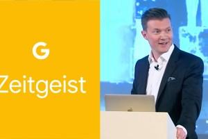 Johan Norberg på Google Zeitgeist. Skjermdump fra YouTube.