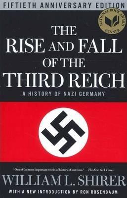 Forsiden på en engelsk utgaven av boken Det tredje rikets vekst og fall av William Shirer..