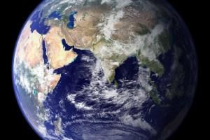 Bilde av jordkloden sett fra verdensrommet.