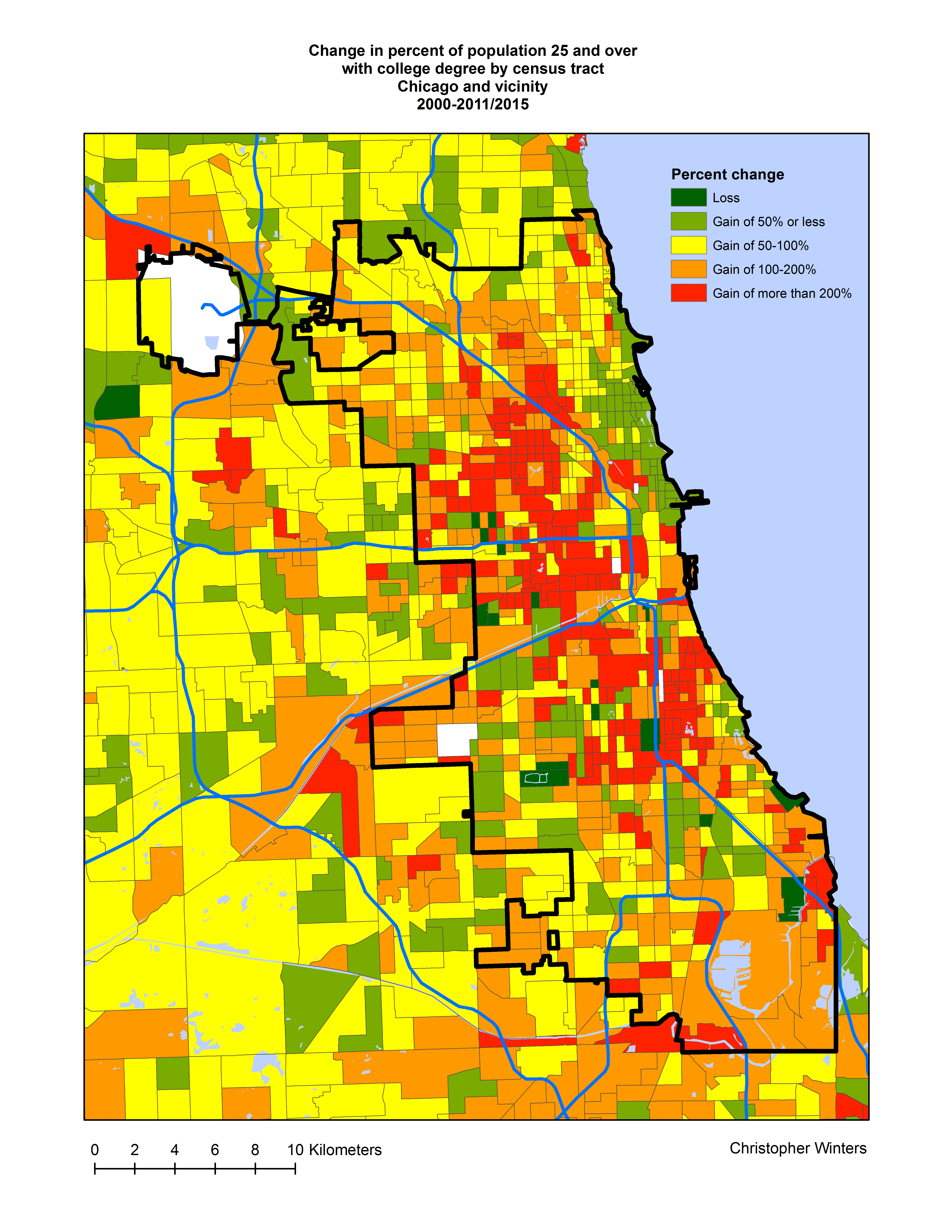 City Colleges Of Chicago Map.The Recent Geography Of Gentrification In Chicago Liberal Landscape
