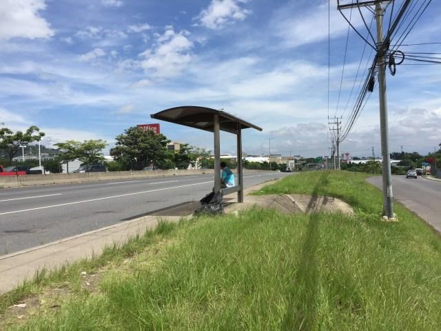 San José, Costa Rica. Bus stop.