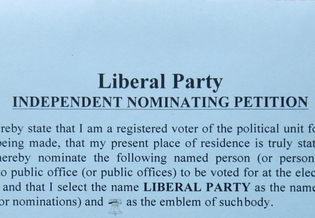 Liberal Party Endorses Ten Citizen-Candidates