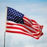 American flag waving image