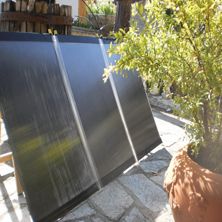 Pannello Solare Termico Collettore a parete Riscaldamento Acqua Aria Calda casa  eBay