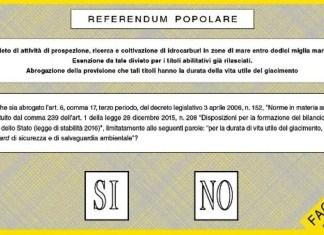 scheda referendum trivelle quorum possibile