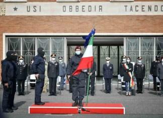 Bandiera di guerra ai Carabinieri che arrestarono Domenico Cutrì