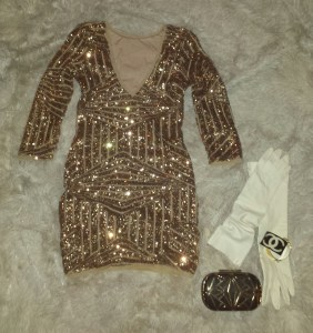 vintage balmain leather gold sequin plunging deep v dress sequins liberata dolce all that glitters post fashion blogger blog fall winter 2015
