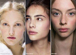 no-makeup makeup lookNTFW spring summer 2017 beauty makeup trend