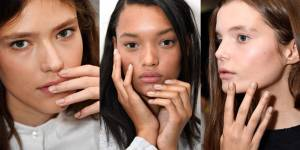 spring summer NYFW 2017 nails beauty trend glitter beds