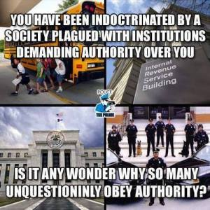 Unquestioningly Obeying Authority