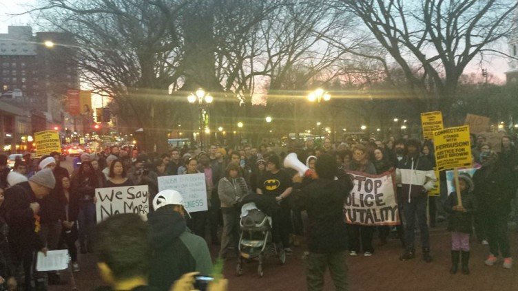 New Haven community takes streets for Mike Brown
