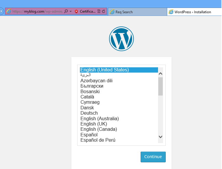 wordpress ssl installation