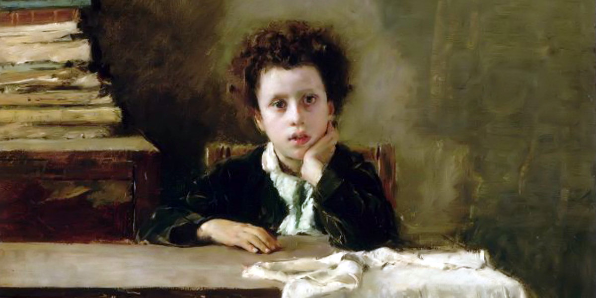 The Little Schoolboy o The Poor Schoolboy di Antonio Mancini