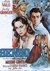 """Locandina di """"Senso"""" di Luchino Visconti"""