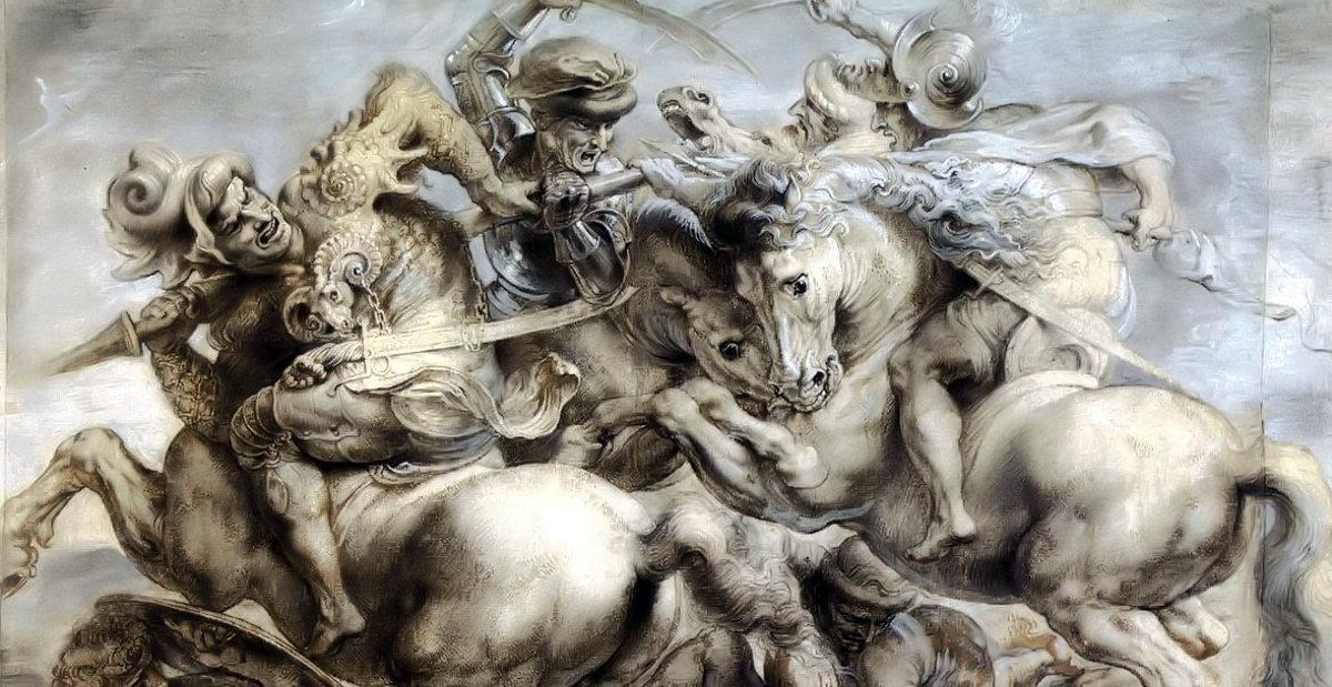 Copy after the Battle of Anghiari by Leonardo da Vinci di Peter Paul Rubens