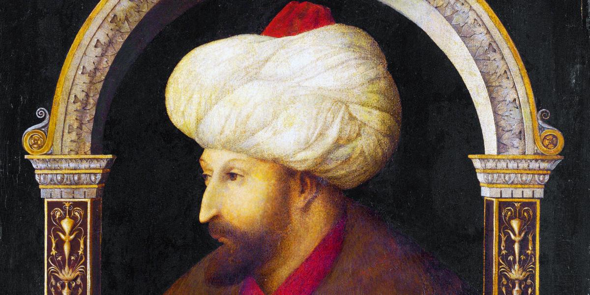 Ritratto di sultano Ottomano Maometto il Conquistatore di Gentile Bellini (1429 - 1507)