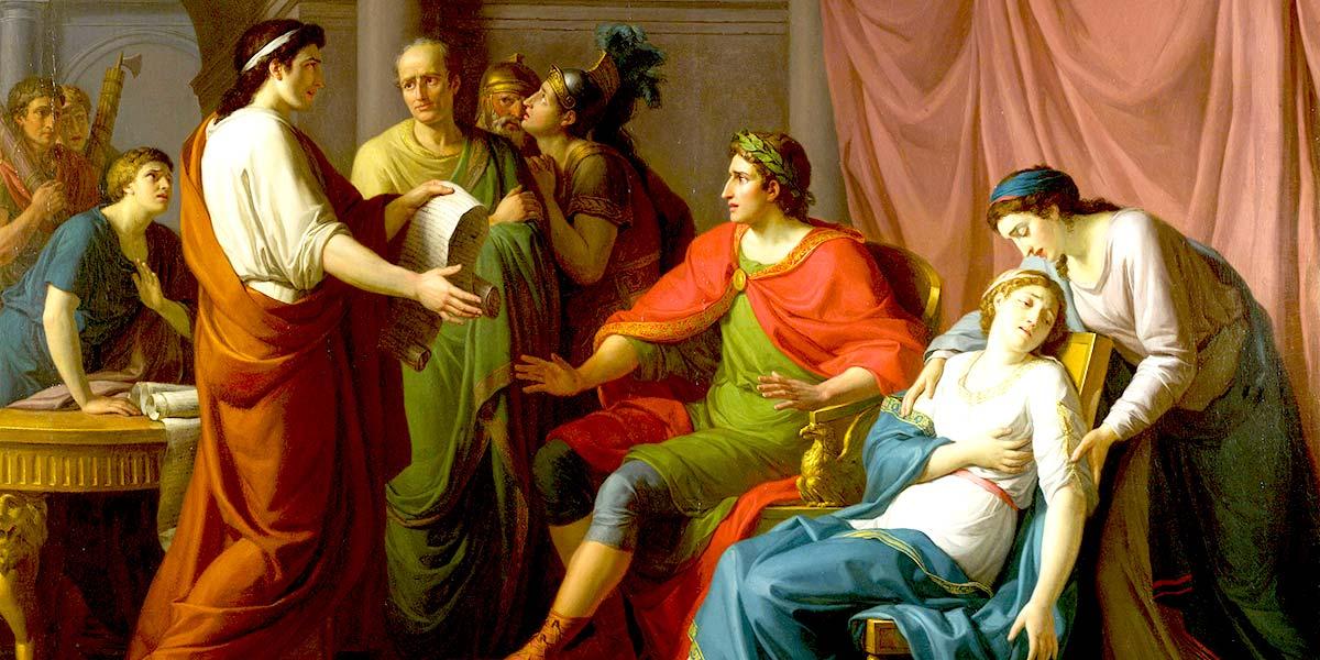Virgil reading the Aeneid to Augustus and Octavia. Jean-Joseph Taillasson (1745–1809)