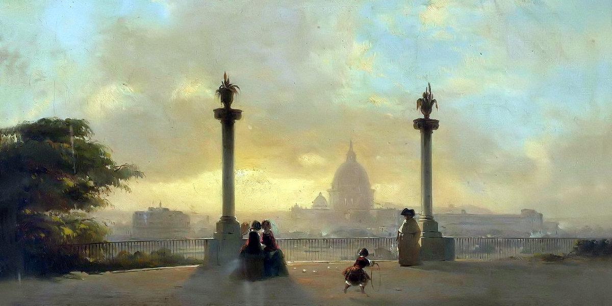 Veduta di Roma dal Pincio di Ippolito Caffi