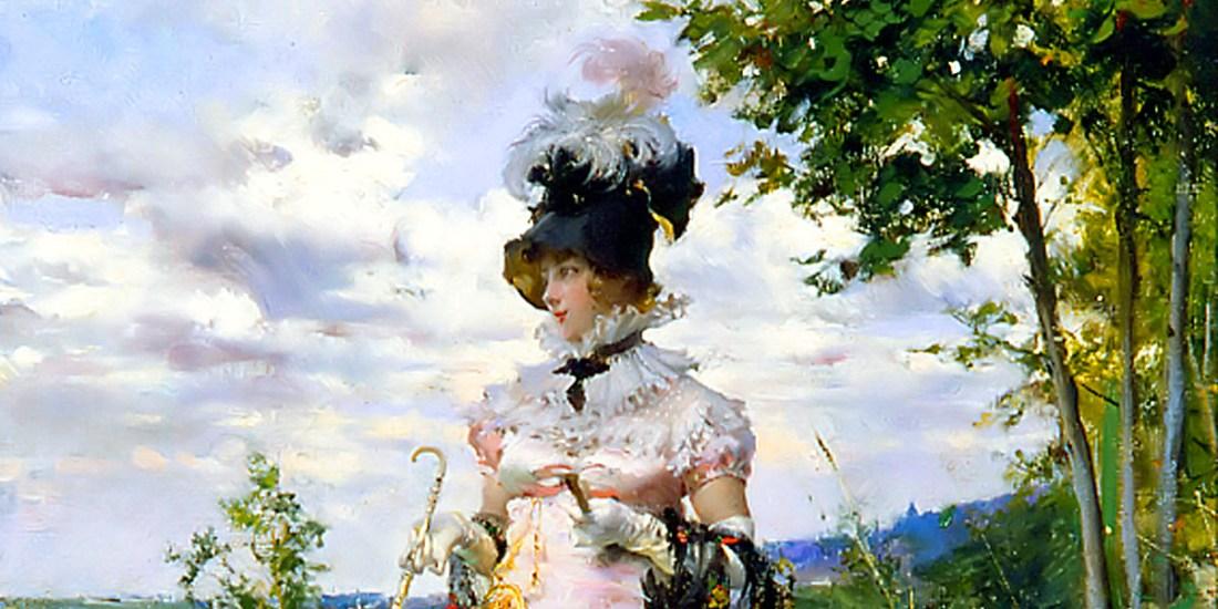 """""""La passeggiatina estiva"""" (1873). Olio su tela di Giovanni Boldini"""