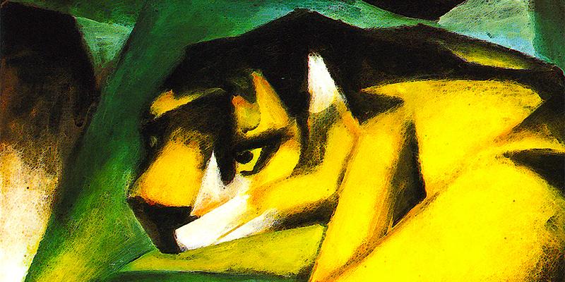 """""""Der Tiger"""" di Franz Marc"""