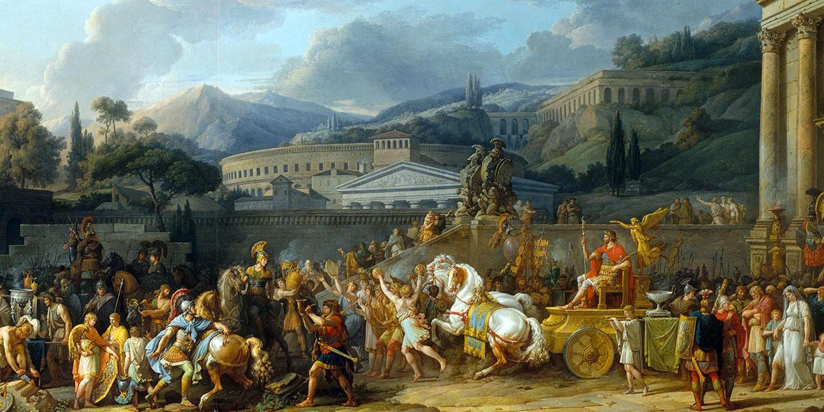 The Triumph of Aemilius Paulus di Carle Vernet (1758-1836)