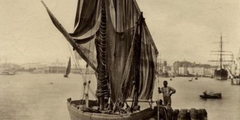 Carlo Naya, Venezia. Bragozzo (dettaglio)