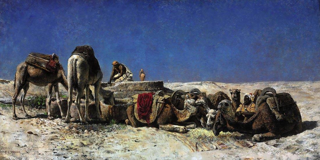 Edwin Lord Weeks. Camels beside a cistern