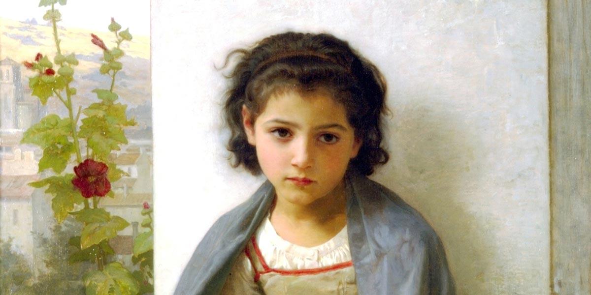 The Little Knitter. William-Adolphe Bouguereau (1825–1905)