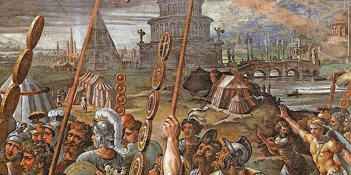 Visione della croce - Raffaello Santi - 1520-1524 - Sala di Costantino, Palazzi Pontifici, Vaticano