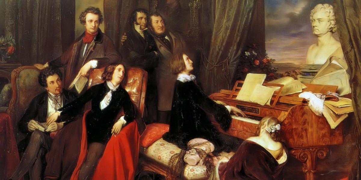 Franz Liszt Fantasizing at the Piano. Josef Danhauser (1805–1845)