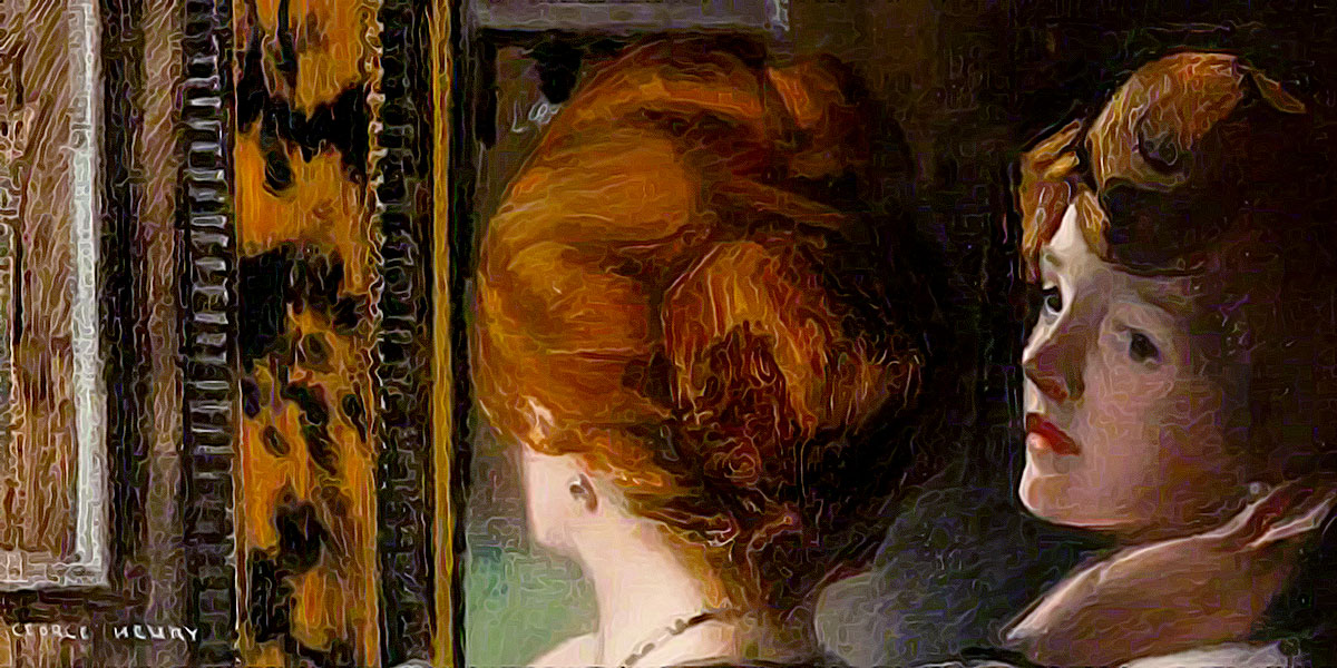 The Tortoiseshell Mirror. George Henry